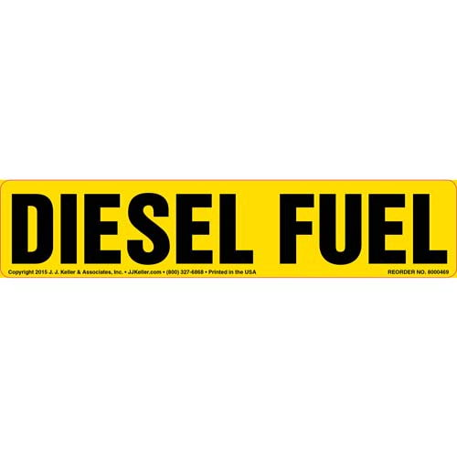Diesel Fuel Label - Yellow (010437)