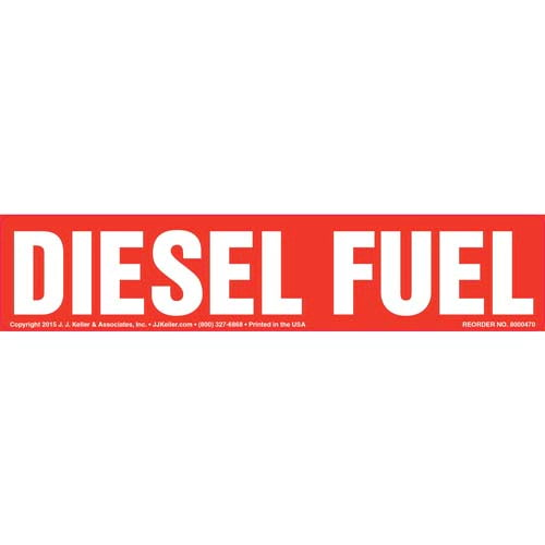 Diesel Fuel Label - Red (010438)