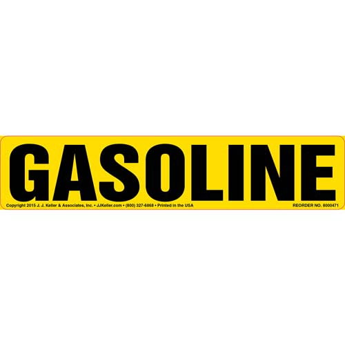 Gasoline Label - Yellow (010439)