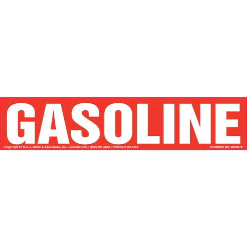 Gasoline Label - Red (010440)