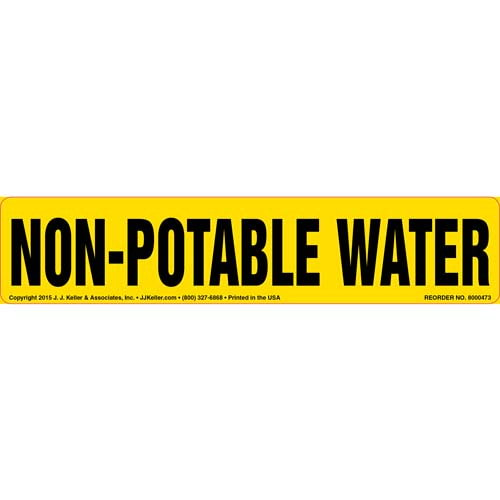 Non-Potable Water Label (010441)