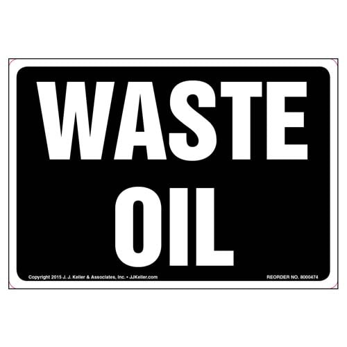 Waste Oil Label (010442)