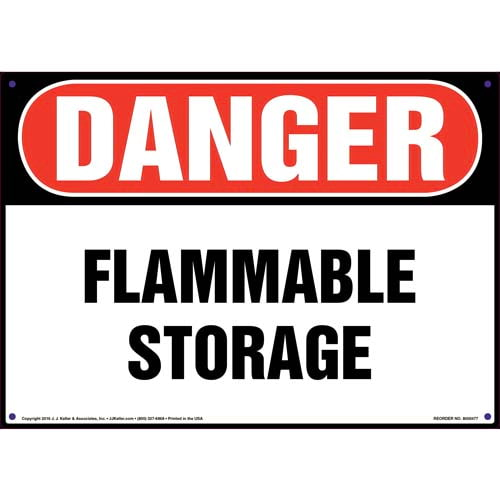 Danger: Flammable Storage Sign - OSHA (010445)