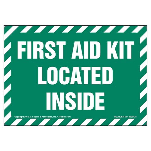 First Aid Kit Located Inside Label (010446)