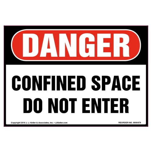 Danger: Confined Space, Do Not Enter Label - OSHA (010447)