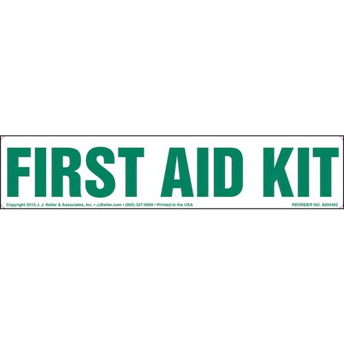 First Aid Kit Label (010450)