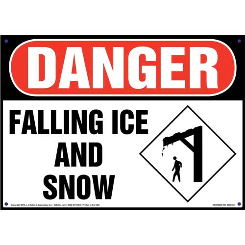 Danger: Falling Ice And Snow Sign - OSHA (011712)