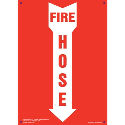 Fire Hose Sign - Down Arrow (011721)