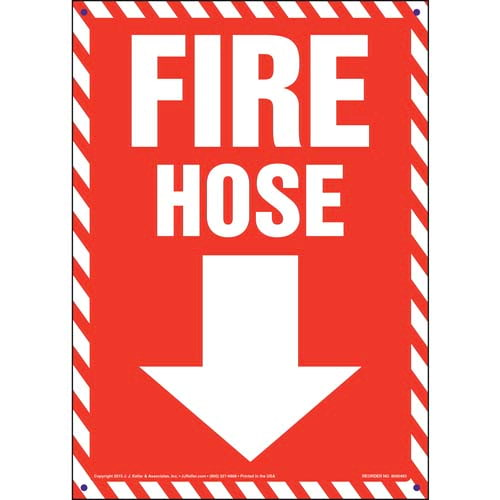 Fire Hose Sign - Striped Border (011722)