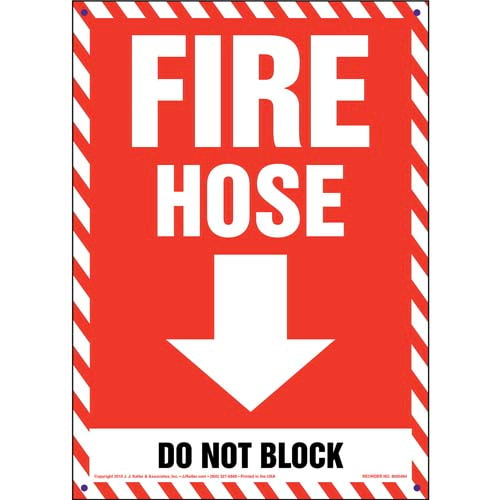 Fire Hose, Do Not Block Sign (011723)