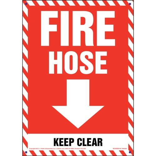 Fire Hose Keep Clear Sign (011724)