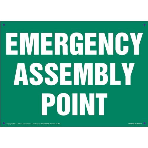 Emergency Assembly Point Sign (011726)