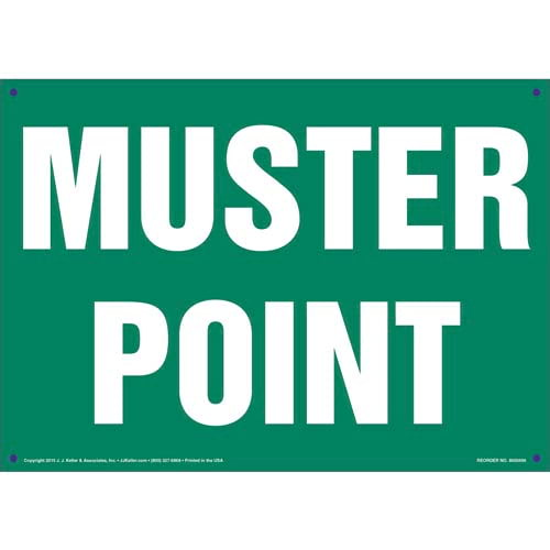 Muster Point Sign (011728)