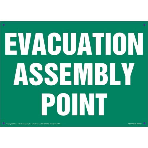 Evacuation Assembly Point Sign (011730)