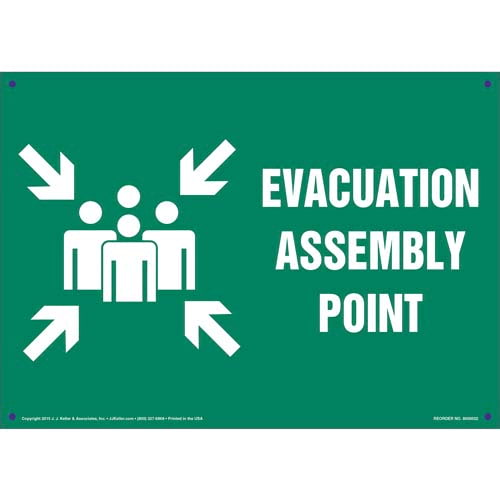 Evacuation Assembly Point Sign with Icon (011731)