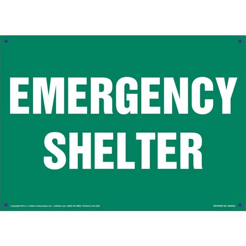 Emergency Shelter Sign (011732)