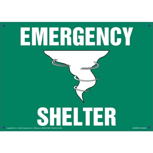 Emergency Shelter Sign with Icon (011733)