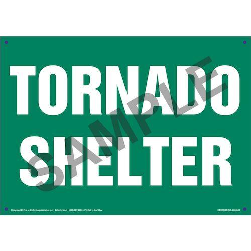Tornado Shelter Sign (011734)