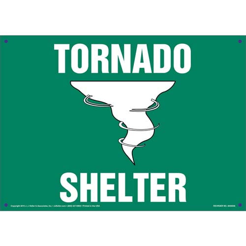 Tornado Shelter Sign with Icon (011735)