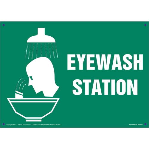 Eye Wash Station Sign (011737)