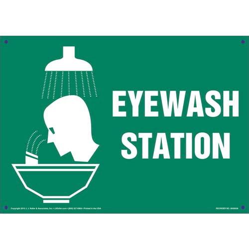 Eye Wash Station Sign (011737)