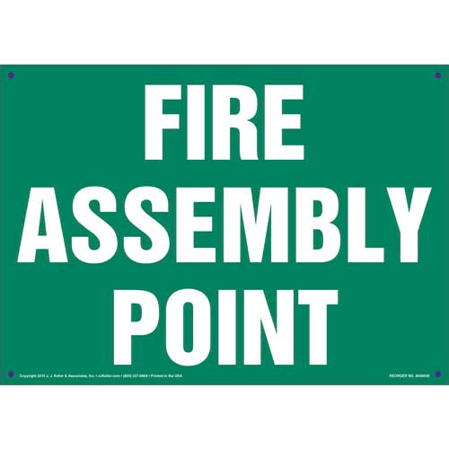 Fire Assembly Point Sign - Green (011738)