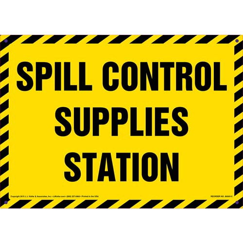 Spill Control Station Sign (011742)