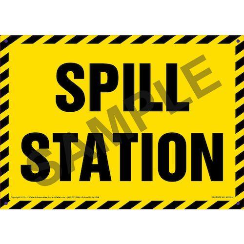 Spill Station Sign (011743)