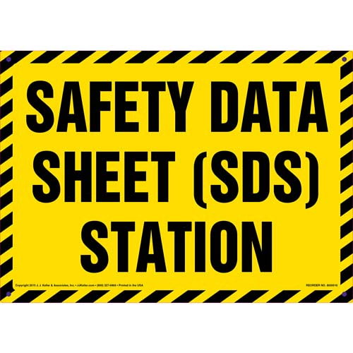 Safety Data Sheet (SDS) Station Sign (011745)