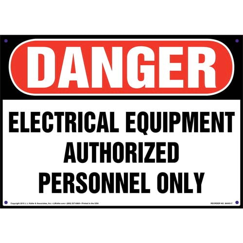 Danger: Electrical Equipment Authorized Personnel Only - OSHA Sign (011746)