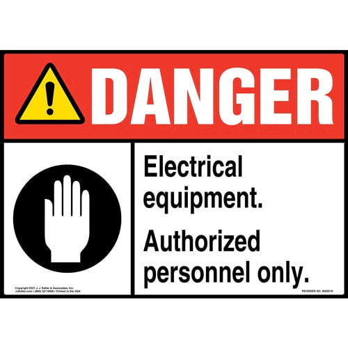 Danger: Electrical Equipment Authorized Personnel Only - ANSI Sign (011748)
