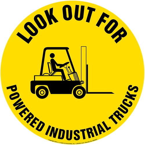 Look Out For Powered Industrial Trucks Floor Sign (011756)