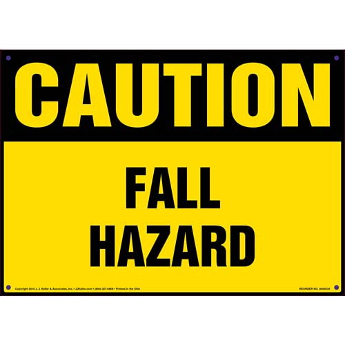 Caution: Fall Hazard - OSHA Sign (011763)