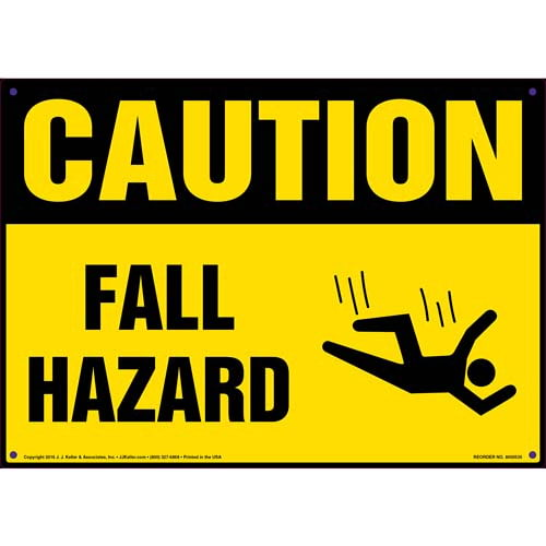 Caution: Fall Hazard - OSHA Sign (011764)
