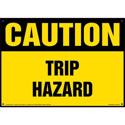 Caution: Tripping Hazard - OSHA Sign (011769)
