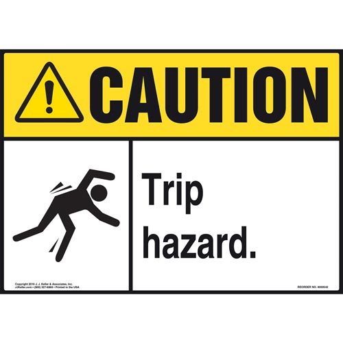 Caution: Tripping Hazard - ANSI Sign (011771)