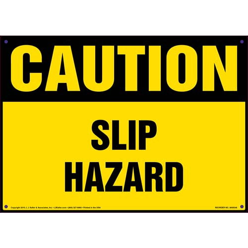 Caution: Slip Hazard - OSHA Sign (011775)