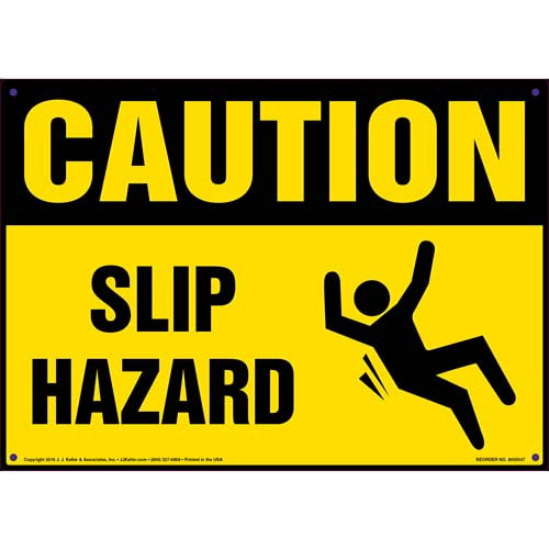 Caution: Slip Hazard - OSHA Sign (011776)