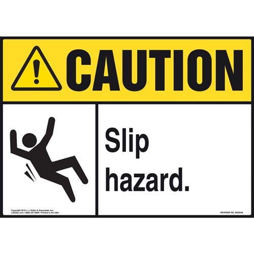 Caution: Slip Hazard - ANSI Sign (011777)