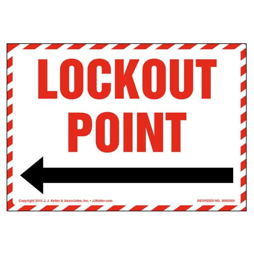 Lockout Point For _  Label (011798)