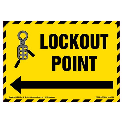 Lockout Point Label (011800)