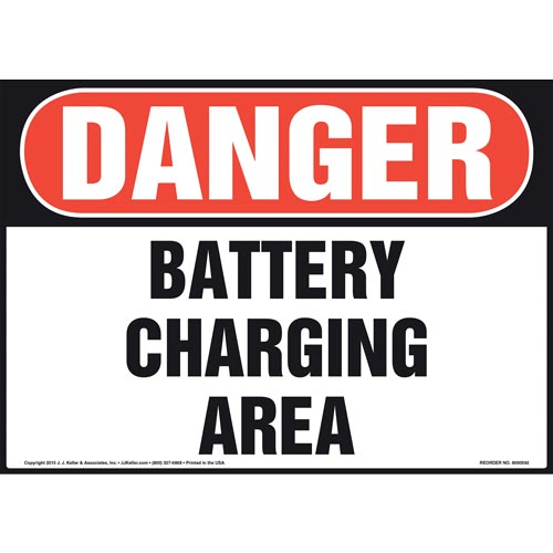 Danger: Battery Charging Area Sign - OSHA (011821)