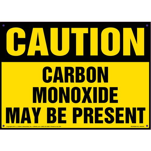 Caution: Carbon Monoxide May Be Present Sign - OSHA (011823)