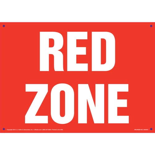 Red Zone Sign (011826)
