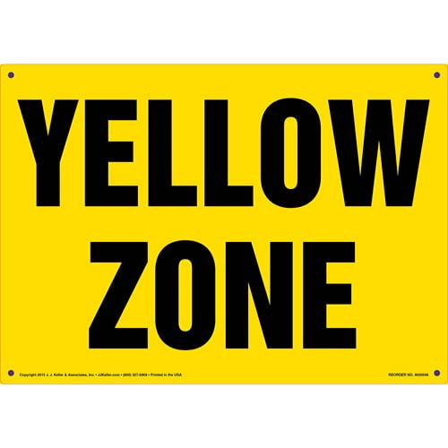 Yellow Zone Sign (011827)