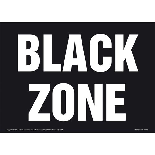 Black Zone Sign (011828)