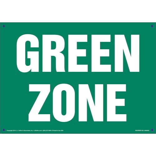 Green Zone Sign (011829)
