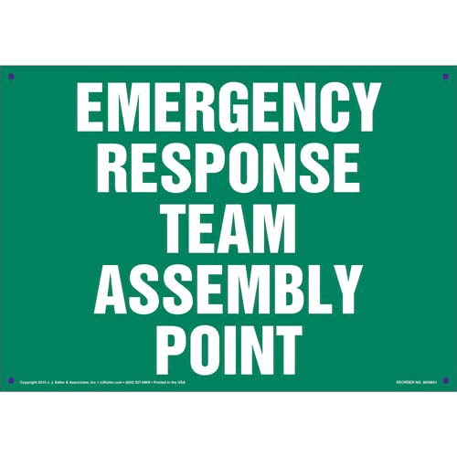 Emergency Response Team Assembly Point Sign (011830)