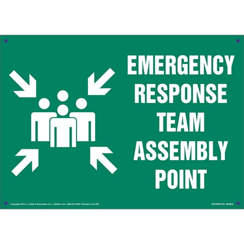 Emergency Response Team Assembly Point Sign with Icon (011831)