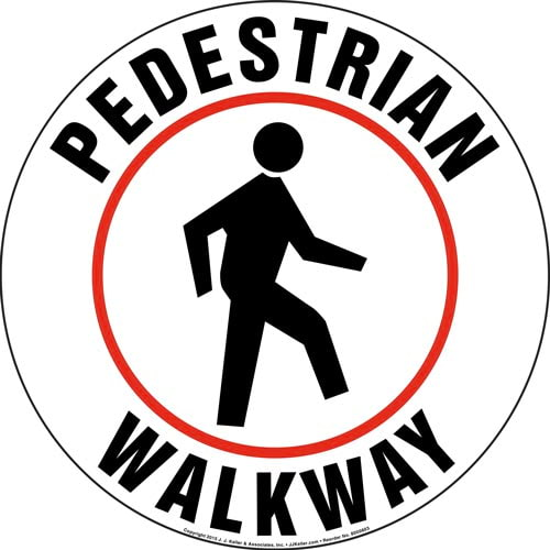Pedestrian Walkway Floor Sign (011832)